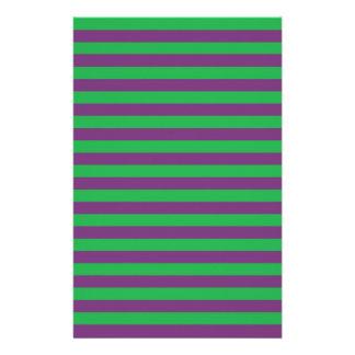 Vert et pourpre barre la papeterie