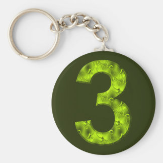 Vert magique chanceux de porte-clés de trois natur