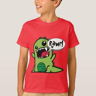 "Vert mignon ""Rawr de bande dessinée !"" Dinosaure T-shirt"