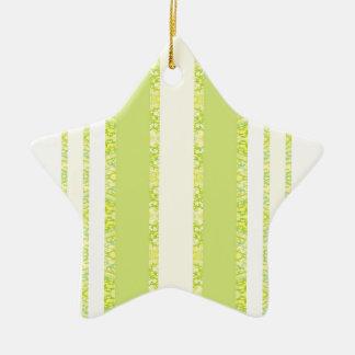 vert ornement étoile en céramique