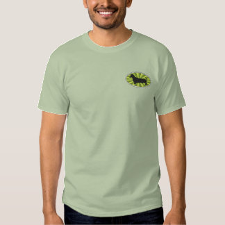 Vert-Starburs ovale de teckel T-shirt Brodé