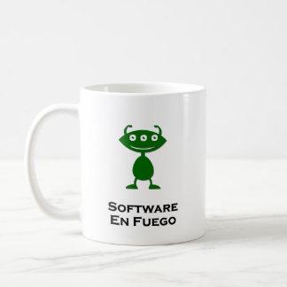 Vert triple d'en Fuego de logiciel d'oeil Mug