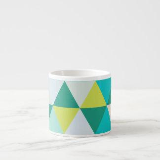 Vert turquoise géométrique de PixDezines Tasse Expresso