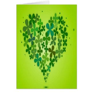 """Vert"" Valentine Carte De Vœux"