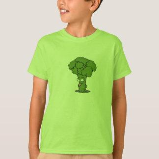 Vert végétal de T-shirt d'enfant de brocoli