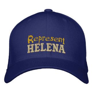 Vertegenwoordig Helena Cap Geborduurde Pet
