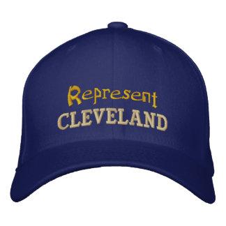 Vertegenwoordig het Pet van Cleveland Geborduurde Pet