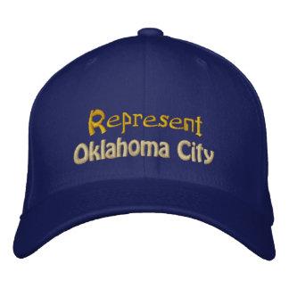 Vertegenwoordig het Pet van de Stad van Oklahoma Geborduurde Pet