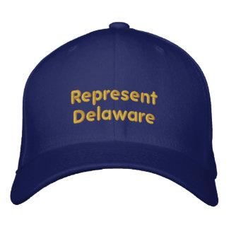 Vertegenwoordig het Pet van Delaware Geborduurde Pet