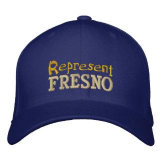 Vertegenwoordig het Pet van Fresno Geborduurde Pet