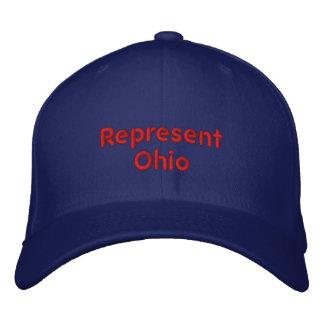 Vertegenwoordig het Pet van Ohio Geborduurde Pet