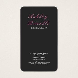 Verticale Grijze Roze Klassieke Vrouwelijke Visitekaartjes