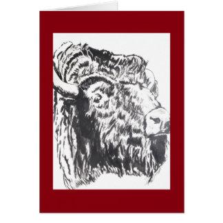Verticale principale de carte de voeux de Buffalo