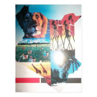 Verticale Templa de carte postale de Jambo Kenya