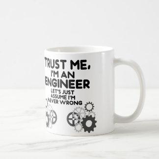 Vertrouw op me, ben ik een Grappige Ingenieur Koffiemok
