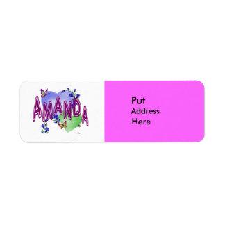 Verzend het naar Amanda Etiket