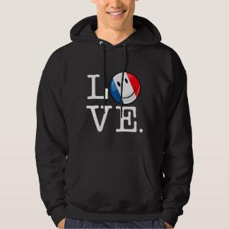 Veste À Capuche Amour de drapeau de sourire de la France