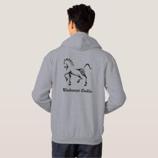 Veste À Capuche Arbre tribal celtique de cheval de texte de