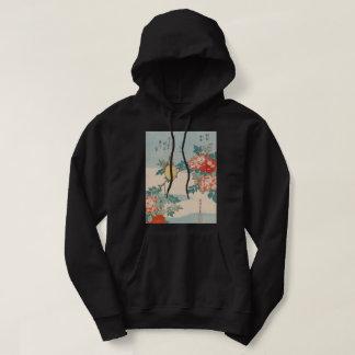 Veste À Capuche Art de cru de GalleryHD de fauvette et de roses de