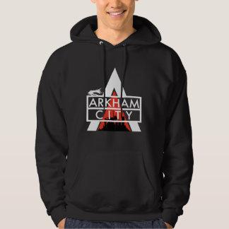 Veste À Capuche Blanc de logo de ville d'Arkham