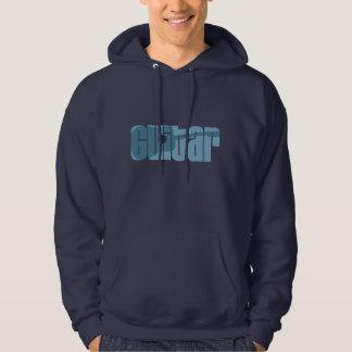 Veste À Capuche Bleu de guitare acoustique