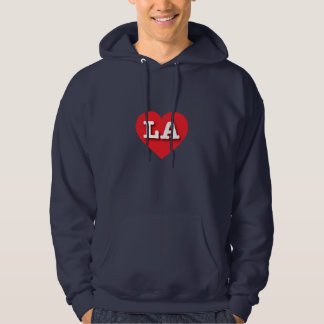 Veste À Capuche Coeur rouge de la Louisiane Los Angeles - grand
