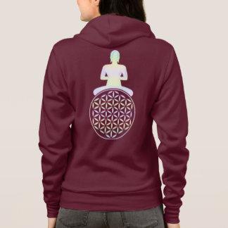 Veste À Capuche Fleur de DES de la vie/Blume Lebens - Bouddha