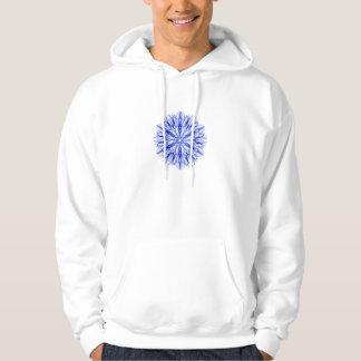 Veste À Capuche Fractale bleue royale et mi de flocon de neige