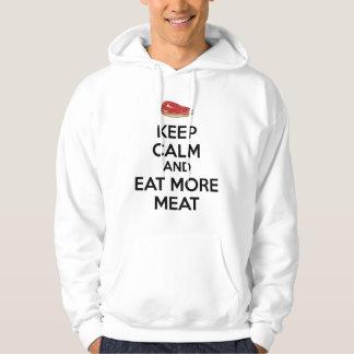 Veste À Capuche Gardez le calme et mangez de plus de viande