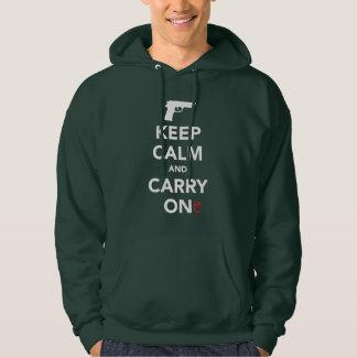Veste À Capuche Gardez le calme et portez une arme à feu