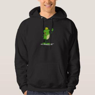 Veste À Capuche grenouille amicale de ondulation idiote de froggy