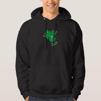 Veste À Capuche grenouille heureuse mignonne de bande dessinée de
