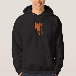 Veste À Capuche grenouille heureuse mignonne d'orange de