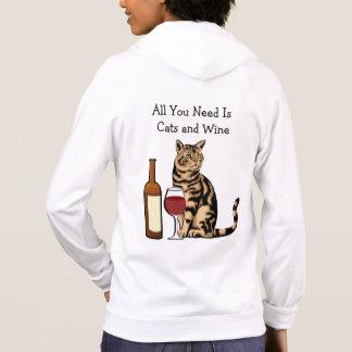 Veste À Capuche Habillement américain de chats et de femmes de vin