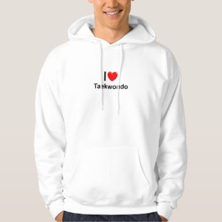 Veste À Capuche J'aime le coeur le Taekwondo