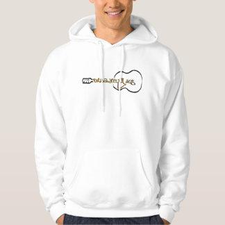 Veste À Capuche Logo de guitare acoustique de cuirassé