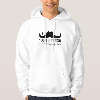 Veste À Capuche Moustache à la mode et fraîche d'I vous une