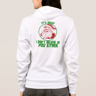 Veste À Capuche Père Noël ne croit pas en vous