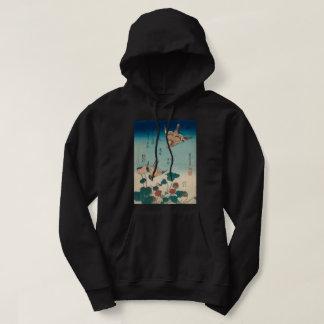 Veste À Capuche Pie-grièche vintage de Hokusai et art de GalleryHD