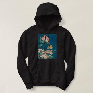 Veste À Capuche Pivoines vintages de Hokusai et art jaune canari