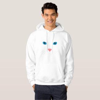 Veste À Capuche Sweat-shirt avec Chat Blanc