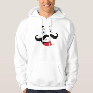 Veste À Capuche Visage drôle avec la moustache