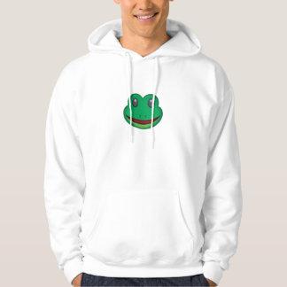 Veste À Capuche Visage Emoji de grenouille