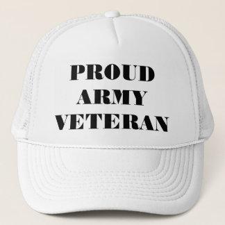 Vétéran fier d'armée de casquette