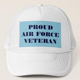 Vétéran fier de l'Armée de l'Air de casquette