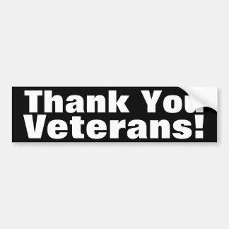 Vétérans de Merci ! Autocollant De Voiture