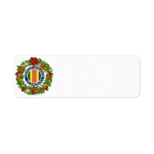 Vétérans du Vietnam d'étiquette de guirlande de Étiquette D'adresse Retour