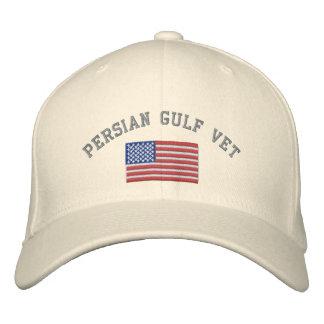 Vétérinaire de golfe Persique avec le drapeau Casquette De Baseball