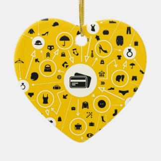 Vêtx le plan ornement cœur en céramique