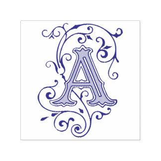 Victoriaans bloei Brief een Monogram Zelfinktende Stempel